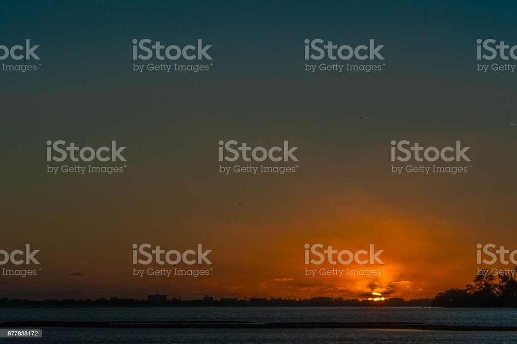 Sunset in the Bay stock photo