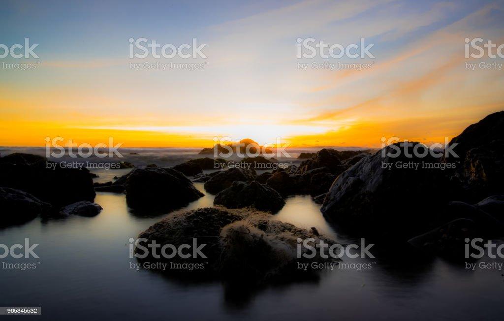 Sunset in the Beach zbiór zdjęć royalty-free