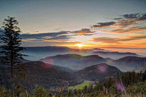 Sunset in the Black Forest