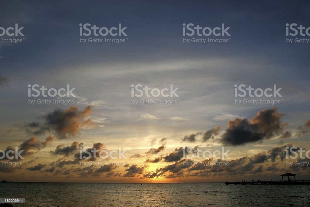 Sunset in the Caribbean royalty-free stock photo