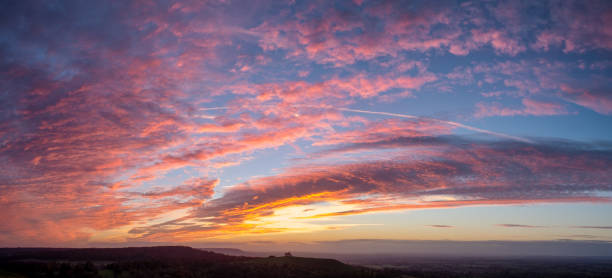 Sunset In The Chiltern Hills, Buckinghamshire stock photo