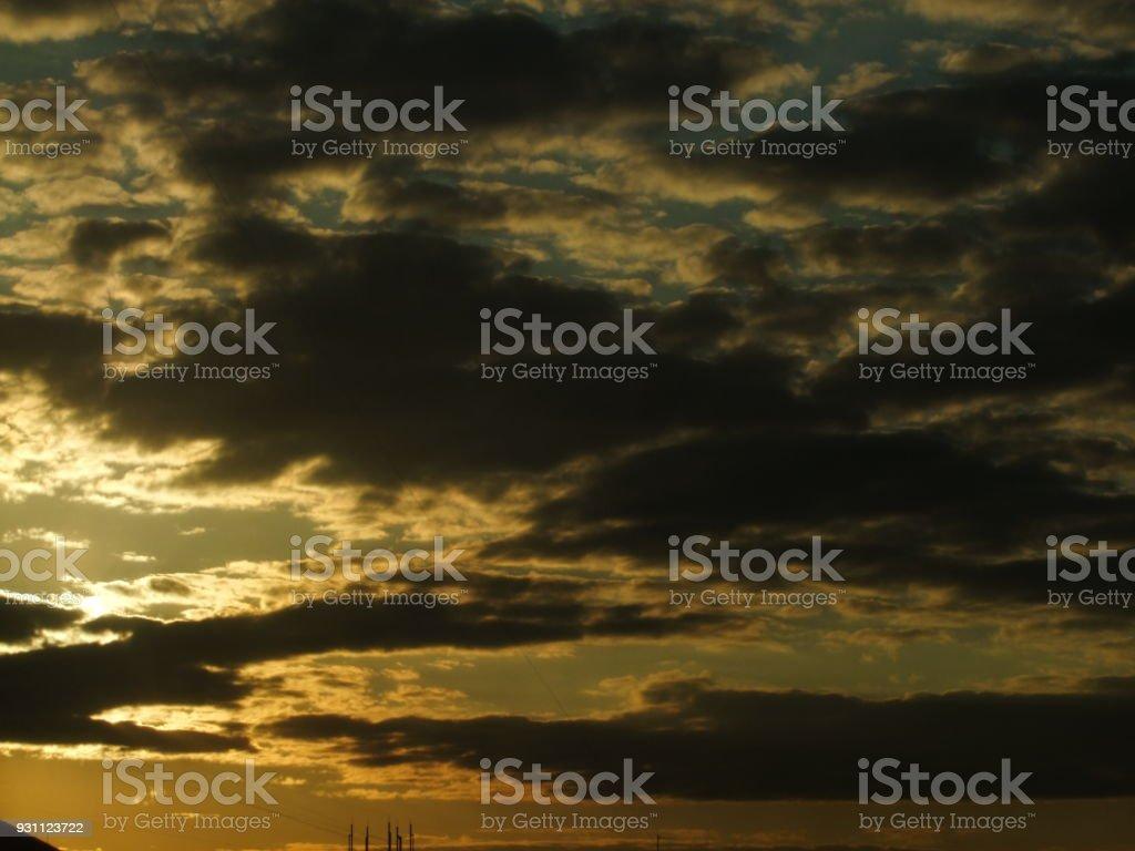 Günbatımı şehir - Royalty-free Akşam karanlığı Stok görsel