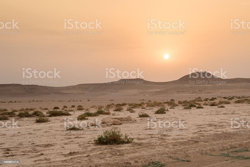 Coucher de soleil dans le désert - Photo