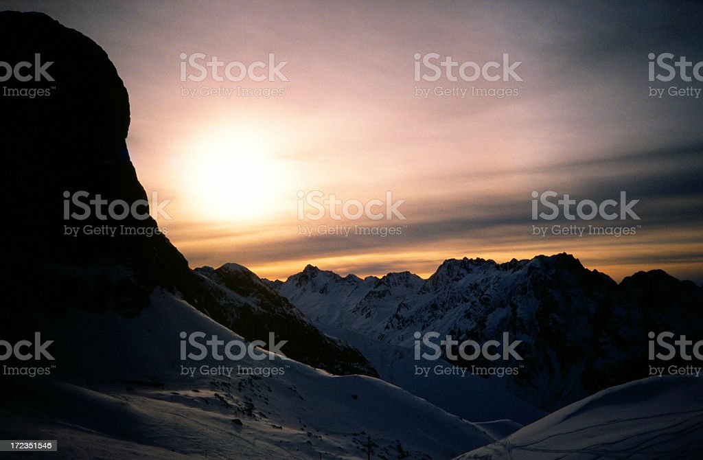 Sunset in the Dolomites royalty-free stock photo