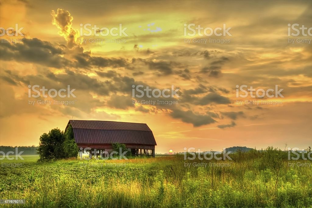 Sunset In The Heartland stock photo