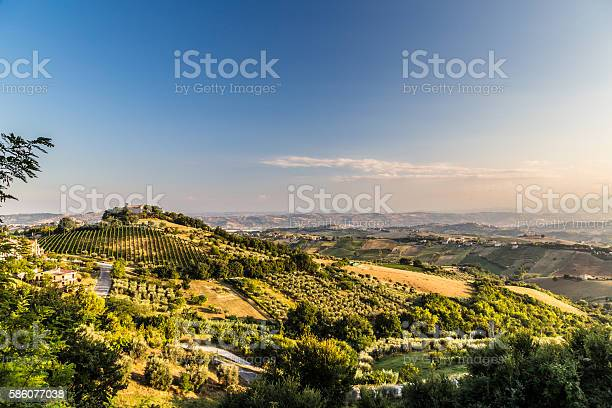 Photo of Sunset in the italian countryside