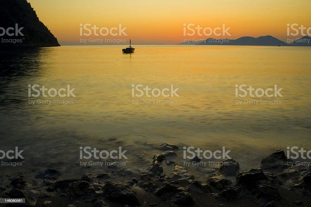 Sunset In The Kabak Valley stock photo