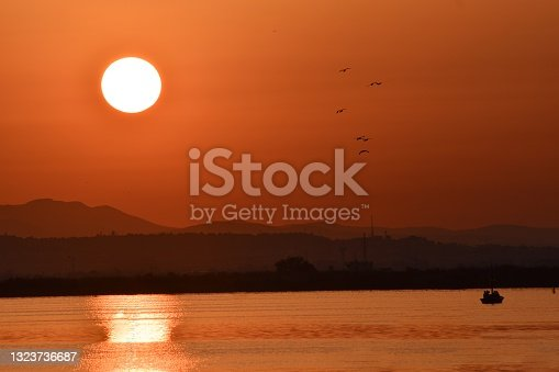 istock Sunset in the lagoon  of valencia 1323736687