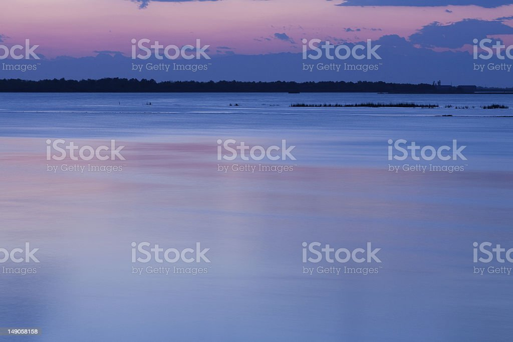 sunset in the lagoon royalty-free stock photo