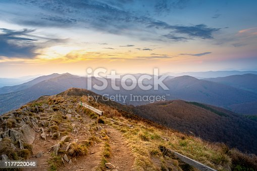 istock sunset in the mountains - Bieszczady National Park. 1177220046