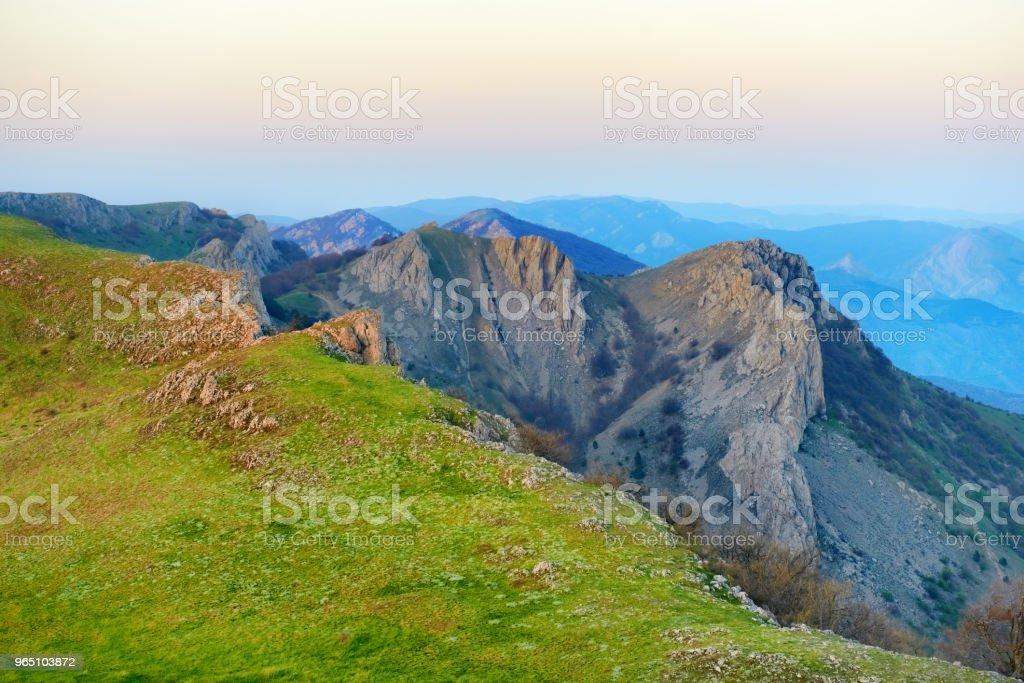 Sunset in the mountains zbiór zdjęć royalty-free