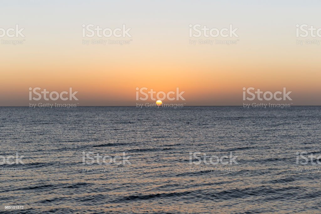 Sunset In The Ocean royalty-free stock photo
