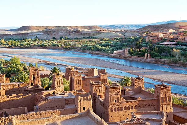 sunset in   the river blue - kasbah bildbanksfoton och bilder