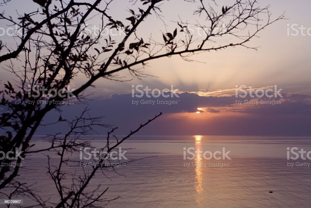 Sunset in the sea royalty-free stock photo