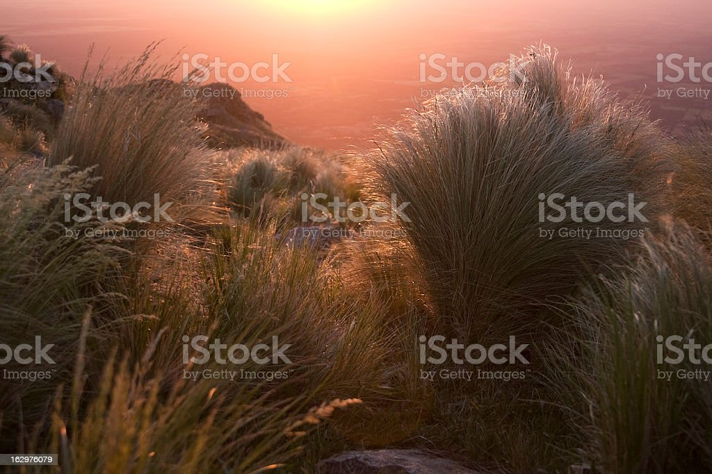 Sunset in the Sierra royalty-free stock photo