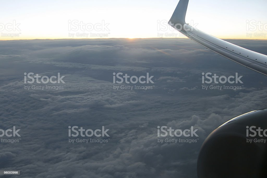 Sunset in the sky royalty free stockfoto