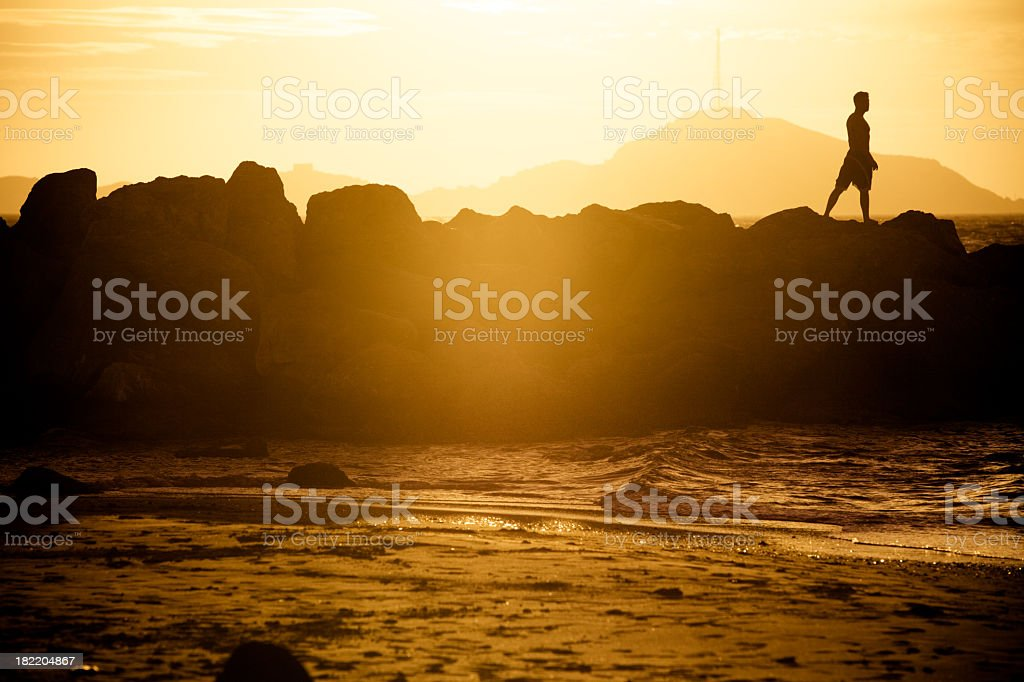 Sunset in the South of France royalty-free stock photo