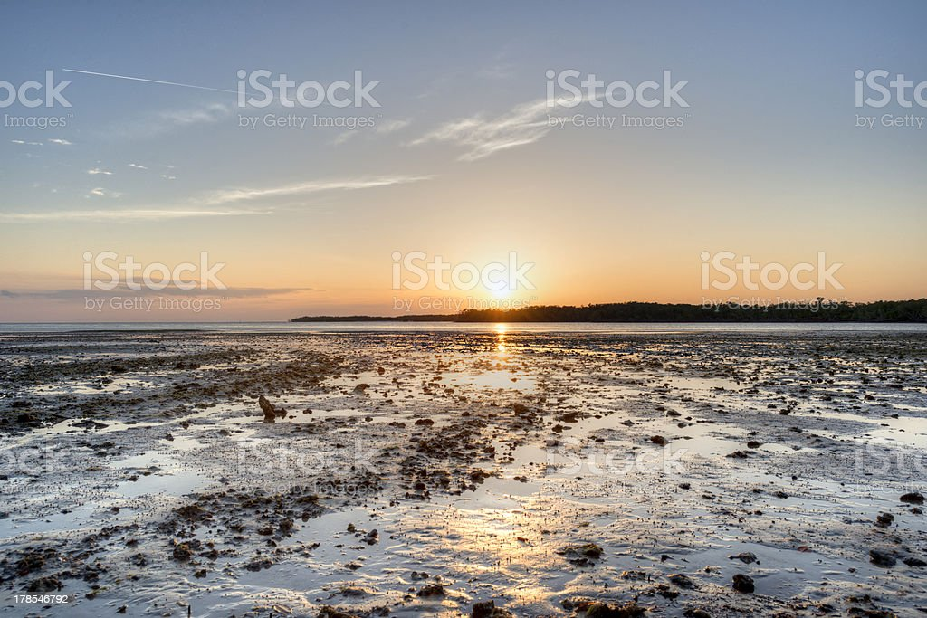 Sunset in the Ten Thousand Islands stock photo