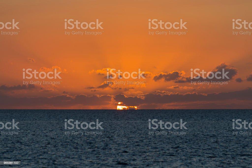 熱帶日落 - 免版稅光圖庫照片