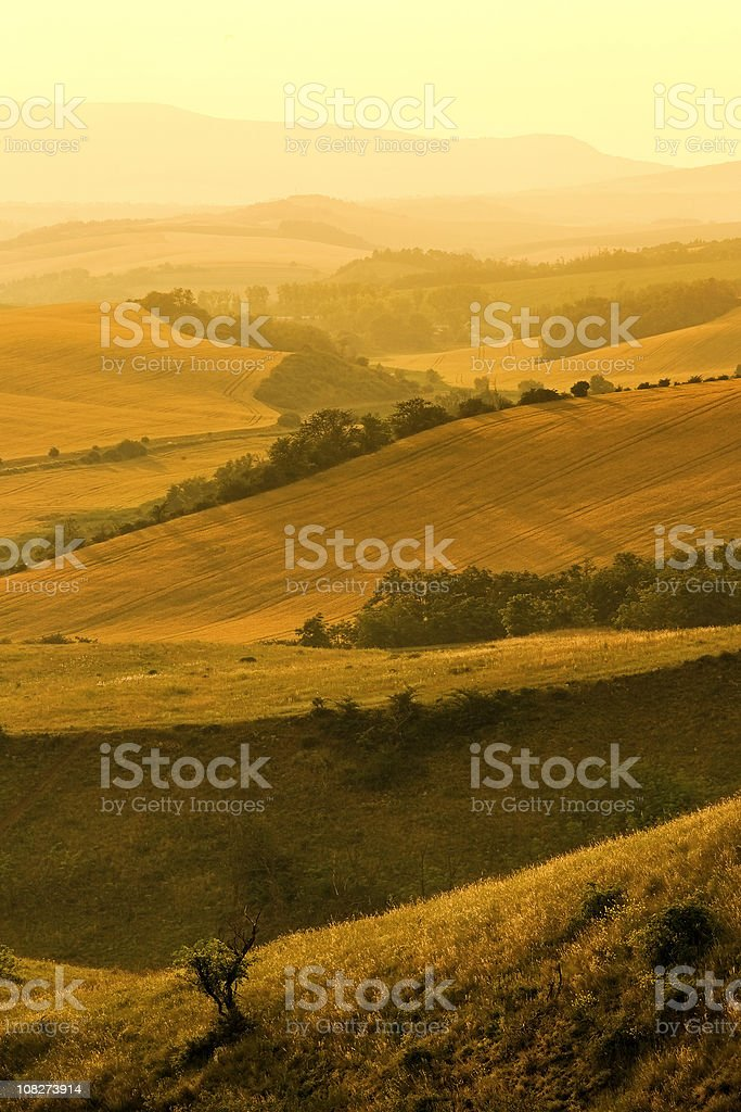 Sunset in the valley royalty-free stock photo