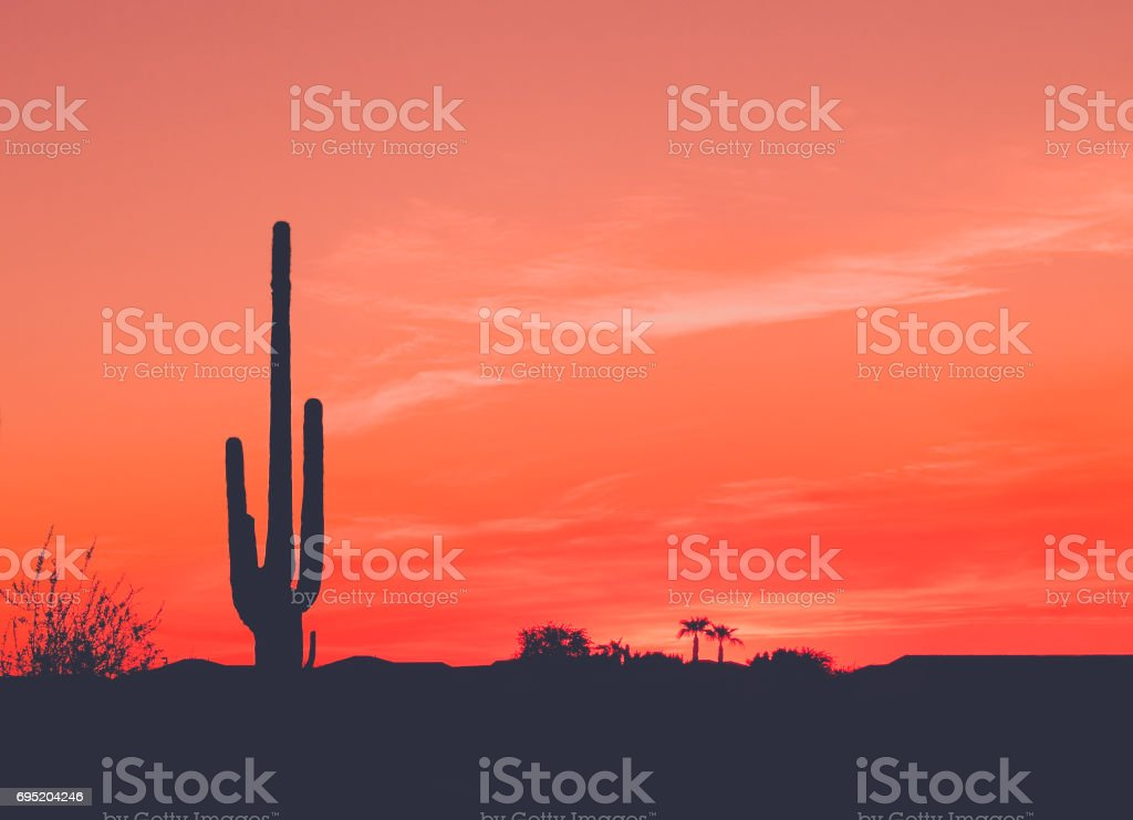 Sunset in the Wild West stock photo