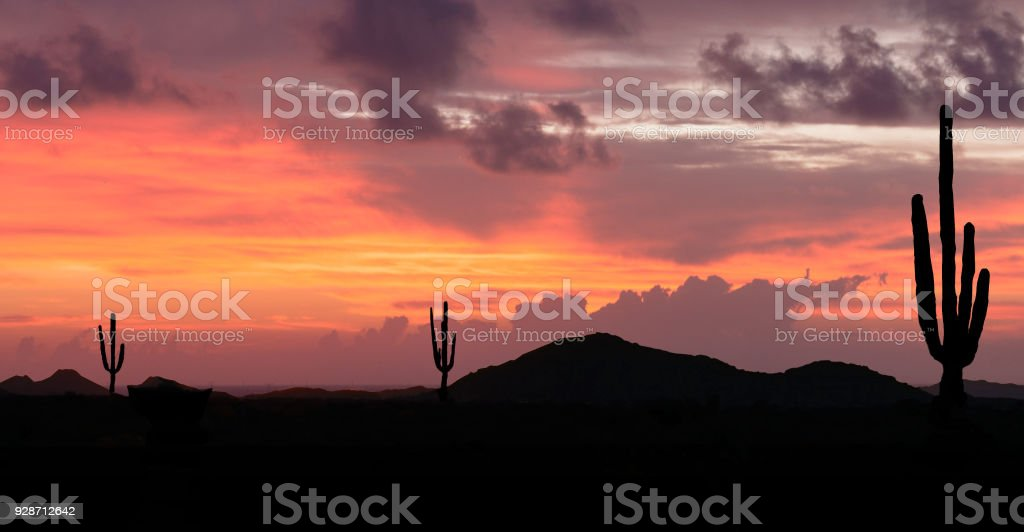 Sunset in the Wild West royalty-free stock photo
