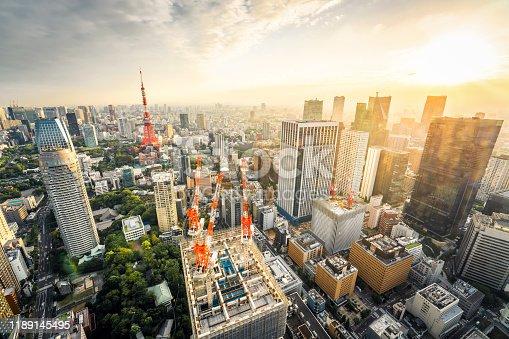 512524478 istock photo Sunset in Tokyo 1189145495