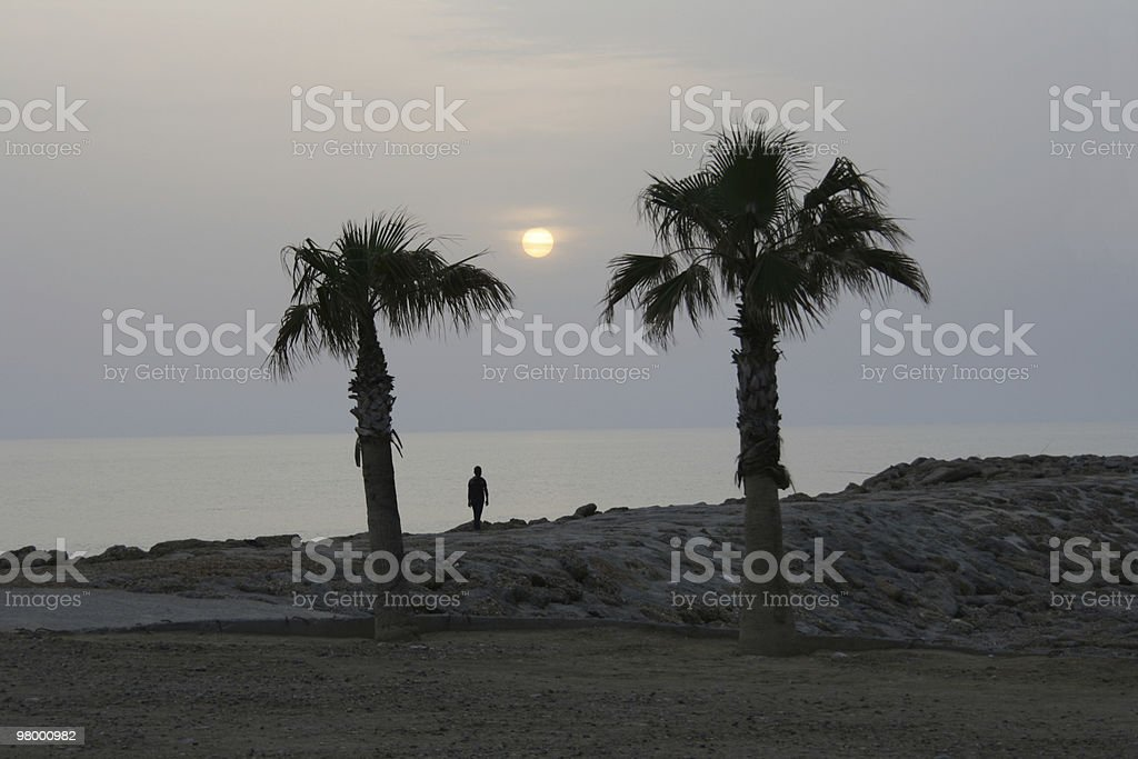 Sunset in Turkey royalty-free stock photo