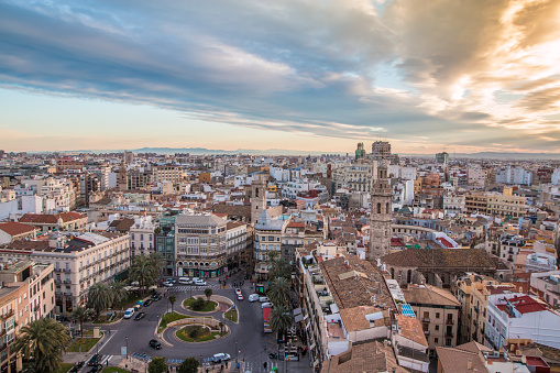 Sunset in Valencia Spain
