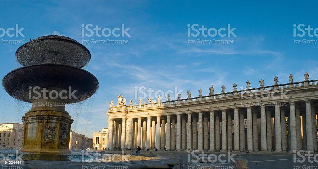 Sunset in Vatican City, Rome royalty-free stock photo