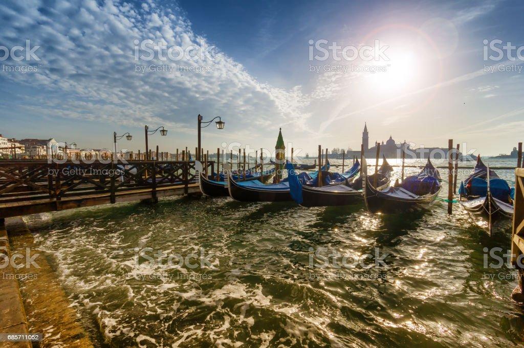sunset in Venice, Italy ロイヤリティフリーストックフォト
