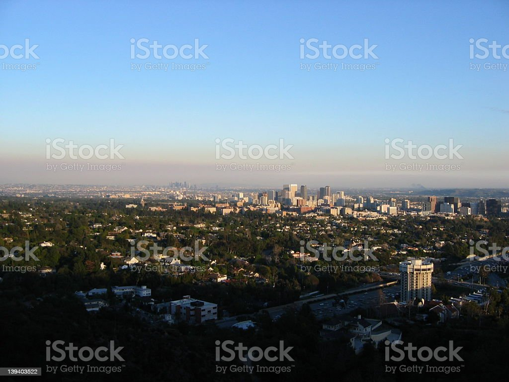 Sunset In West Los Angeles stock photo