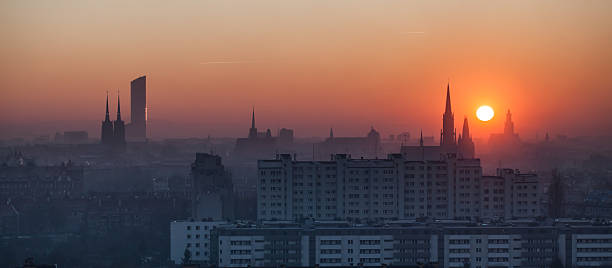 sunset in Wroclaw city – Foto