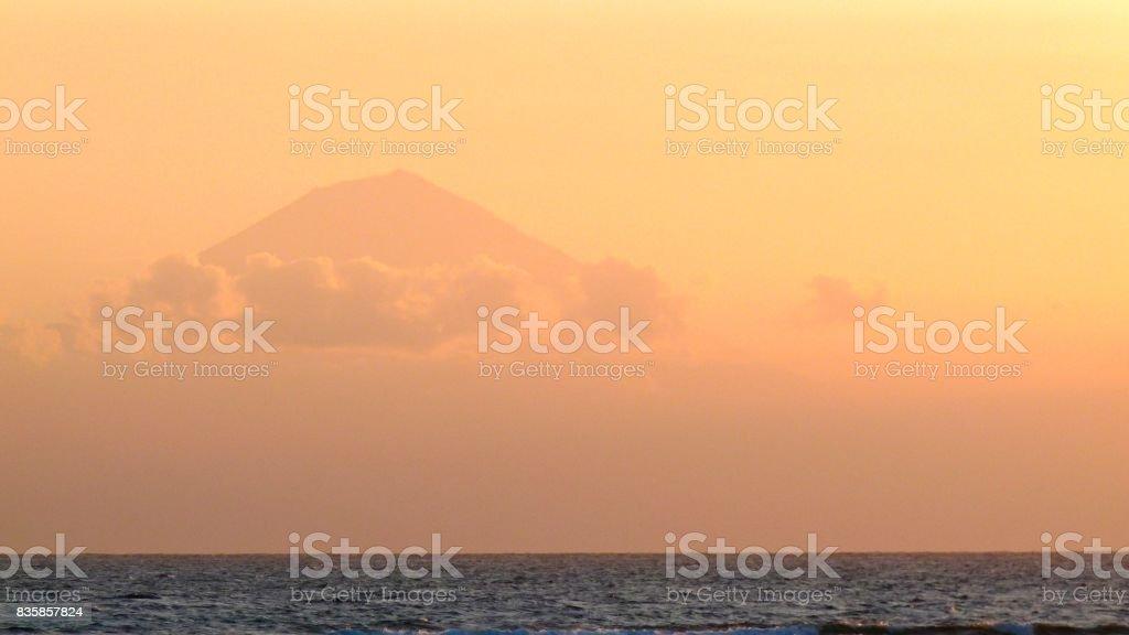 Sunset Indonesia stock photo