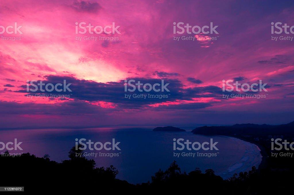 Sunset Jaco Costa Rica stock photo