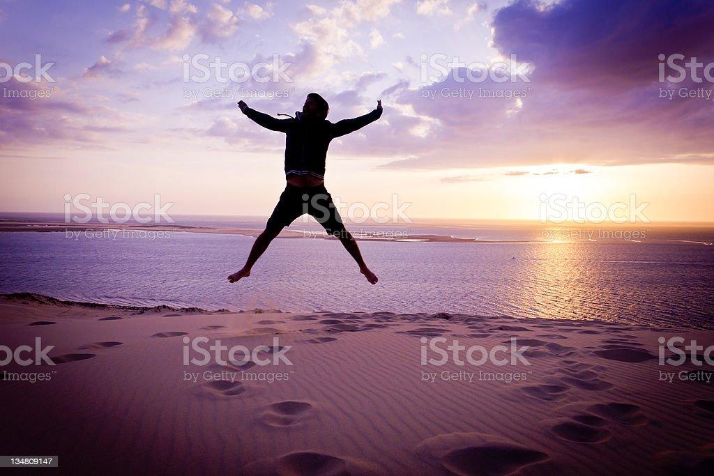 Sunset joy royalty-free stock photo