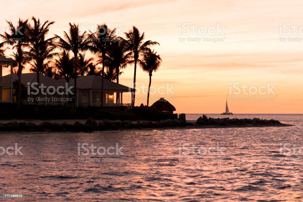 Sunset Key West Florida royalty-free stock photo