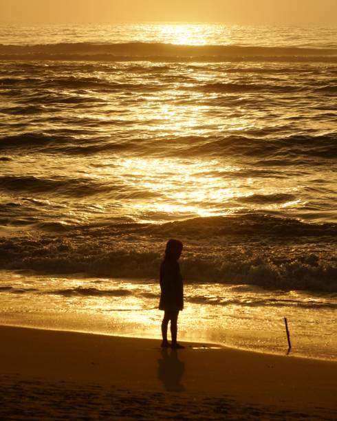 Sunset Kid - foto de stock