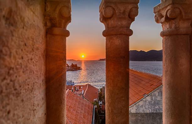 Sunset Korcula Croatia. – Foto