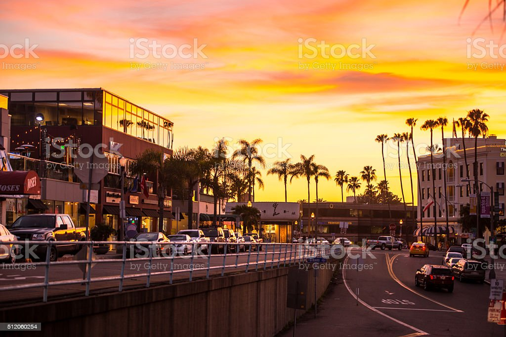 Sunset La Jolla, California, USA stock photo