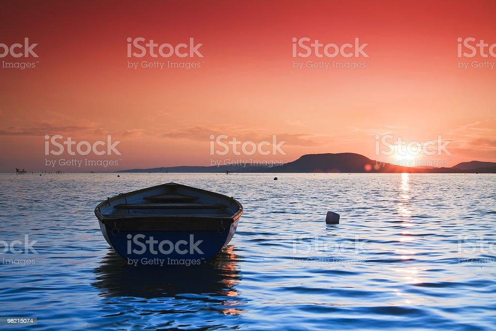 sunset lake royalty-free stock photo