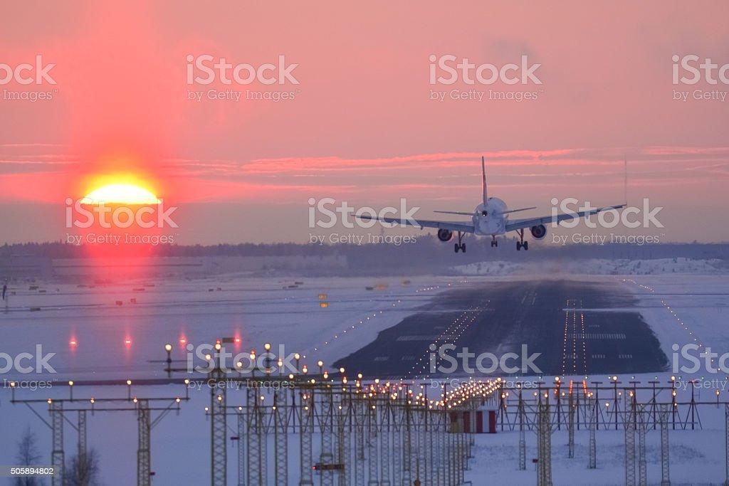 Sunset landing – Foto