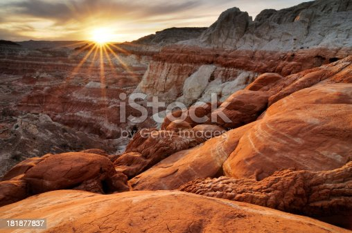 istock Sunset landscape at Paria Rimrocks, Utah, USA 181877837