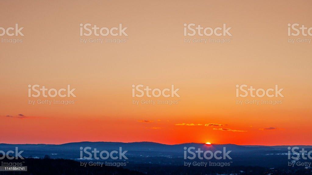 Sunset landscape - New Jersey stock photo