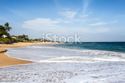 istock Sunset landscape on the beach 653764168