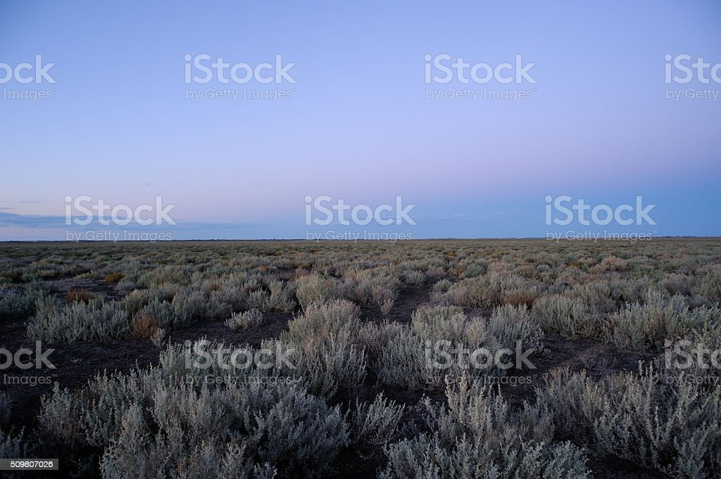 Sunset landscape, Outback Australia, stock photo