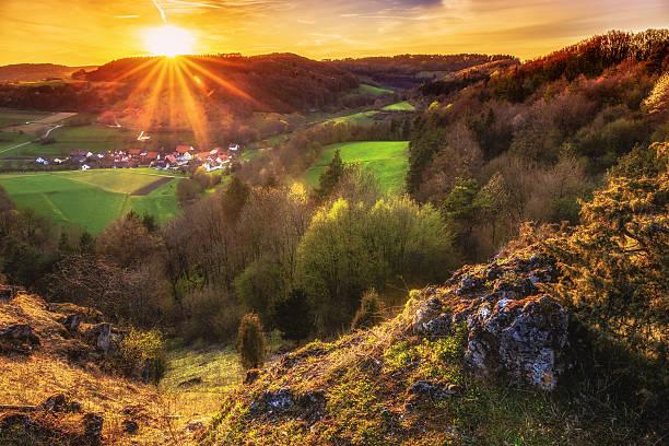 Sonnenuntergang Landschaft – Foto