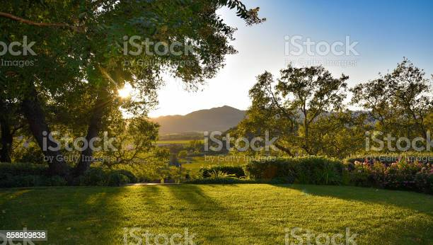 Photo of Sunset, Lawn and a view
