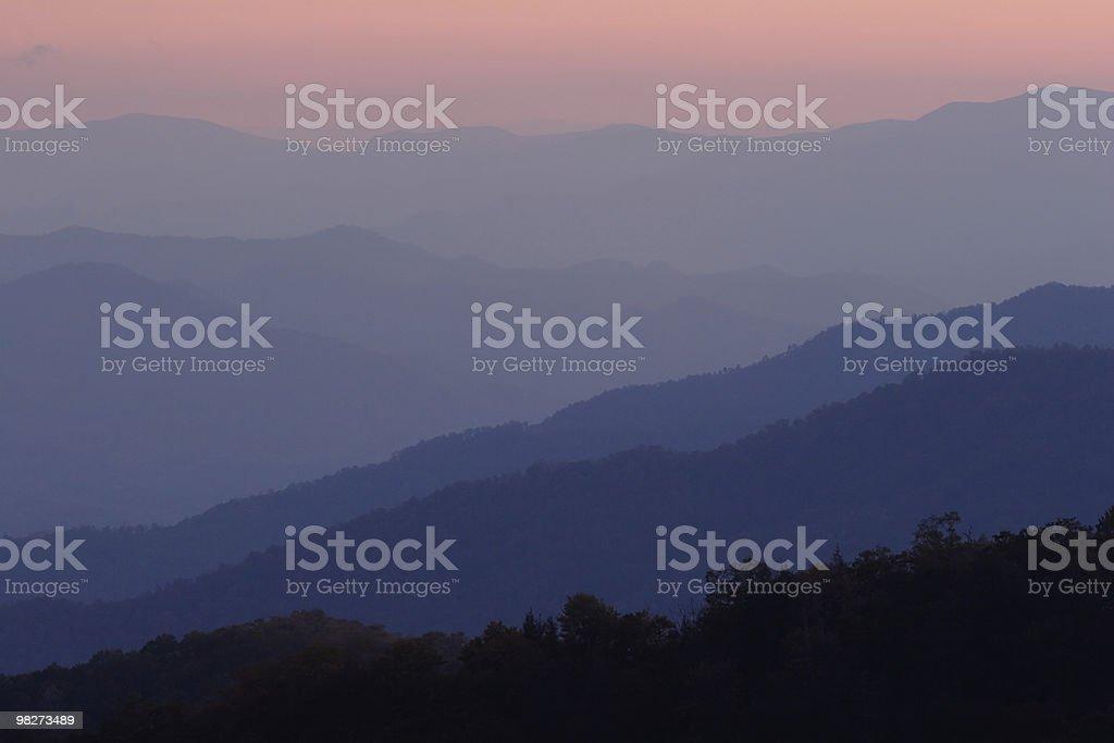 Sunset Layers of the Smokies royalty-free stock photo