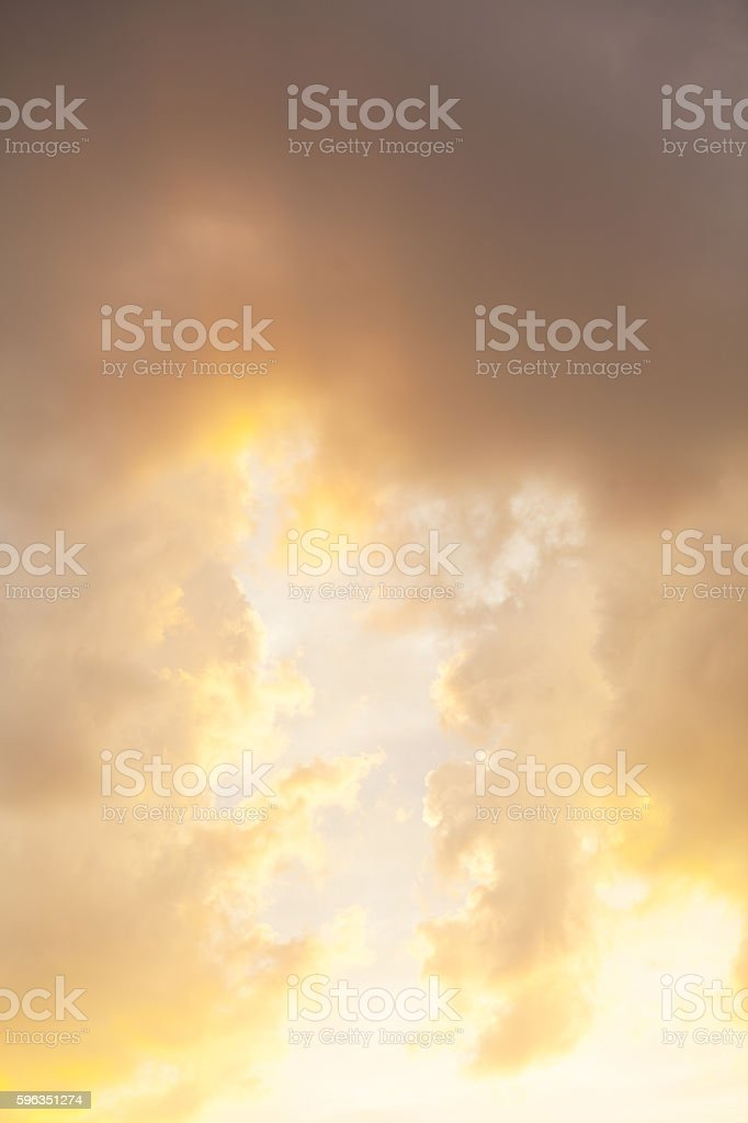 Sunset light and dramatic sky royalty-free stock photo